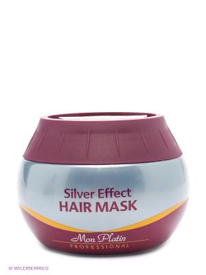 Маска для волос Эффект серебра, 300мл Mon Platin DSM. Цвет: бордовый