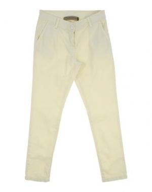 Повседневные брюки MANILA GRACE DENIM. Цвет: светло-желтый