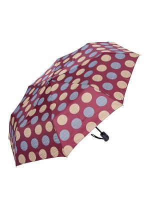 Зонт складной NUAGES. Цвет: бордовый