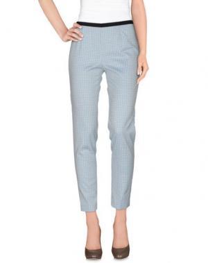 Повседневные брюки QL2 QUELLEDUE. Цвет: небесно-голубой