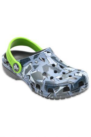 Сабо Crocs. Цвет: серый, камуфляжный