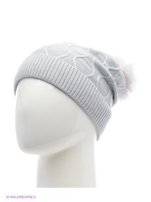 Колибри Беркле шапка женская с помпоном Berkle. Цвет: светло-серый