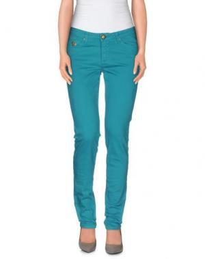 Повседневные брюки DUCK FARM. Цвет: цвет морской волны