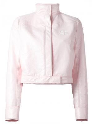 Укороченная куртка Courrèges. Цвет: розовый и фиолетовый