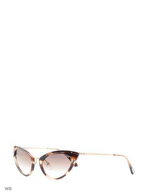 Солнцезащитные очки FT 0349 47G Tom Ford. Цвет: золотистый, серый