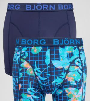 Bjorn Borg Боксеры-брифы из микрофибры с геометрическим и цветочным принтом (2 шт. Цвет: темно-синий
