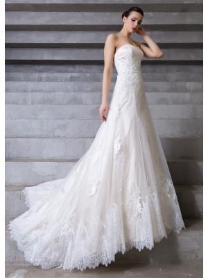 Свадебное платье X'Zotic. Цвет: бежевый, молочный