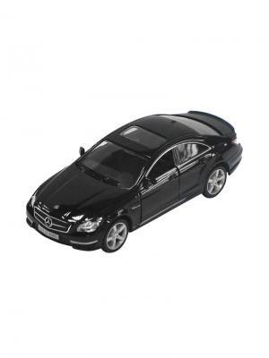 Машинка Инерционная Mercedes-Benz CLS 63 AMG (C218), Черная (1:32) (PS-554995-BL) Pit Stop. Цвет: черный