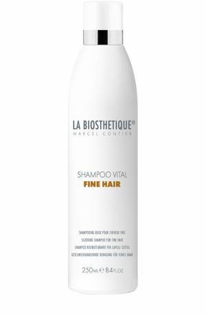 Укрепляющий шампунь для тонких поврежденных волос La Biosthetique. Цвет: бесцветный