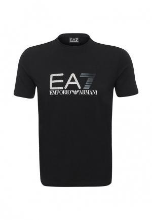 Футболка EA7. Цвет: черный