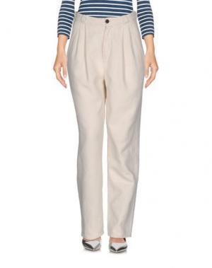 Джинсовые брюки BARK. Цвет: слоновая кость