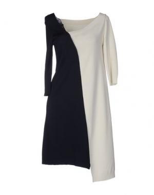 Короткое платье LIVIANA CONTI. Цвет: белый
