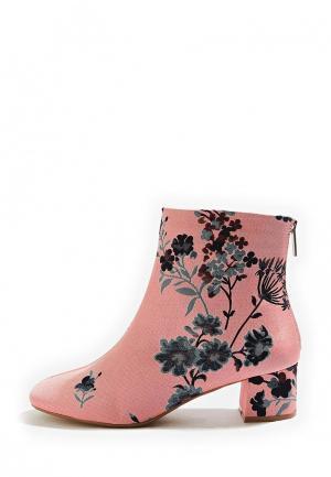 Полусапоги Topshop. Цвет: розовый