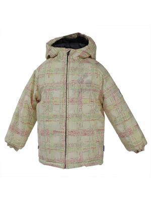 Куртка HUPPA. Цвет: светло-желтый, белый