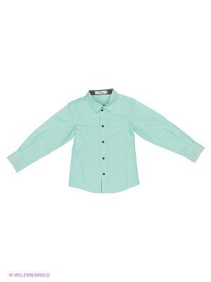 Рубашка Born. Цвет: бирюзовый, черный