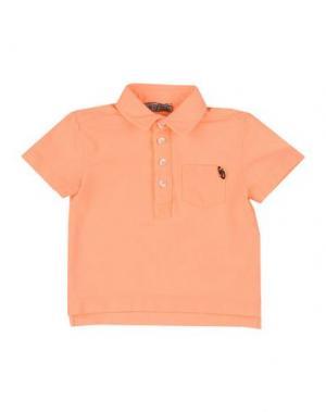 Поло GRANT GARÇON BABY. Цвет: оранжевый