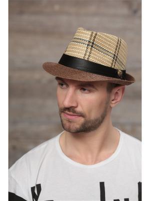 Шляпа Krife. Цвет: светло-бежевый,коричневый