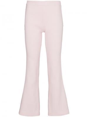 Укороченные расклешенные брюки Giambattista Valli. Цвет: розовый и фиолетовый