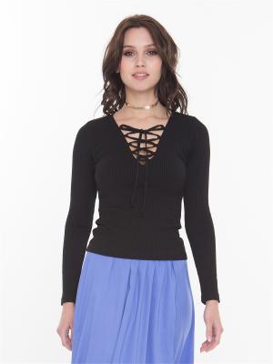 Пуловер на шнуровке Celine FreeSpirit. Цвет: черный