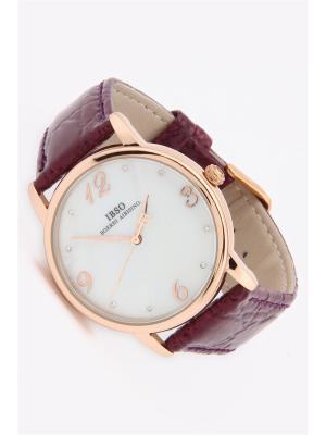 Часы на ремне IBSO. Цвет: темно-фиолетовый, золотистый