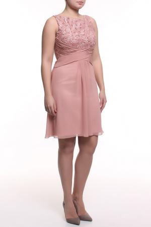Платье коктейльное Clips. Цвет: розовый
