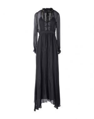 Длинное платье PINKO. Цвет: черный