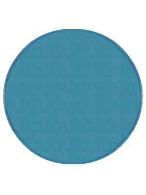 Подушка на табурет хлопок,круг 34, 2 см. DEKORTEX. Цвет: бирюзовый