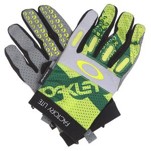 Перчатки  Factory Lite Glove Atomic Green Oakley. Цвет: зеленый,желтый,серый,черный