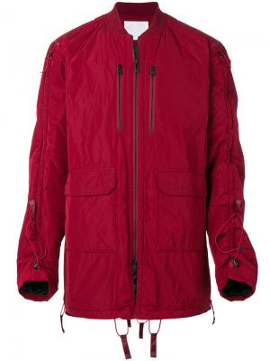 Стеганая куртка с длинными рукавами White Mountaineering. Цвет: красный