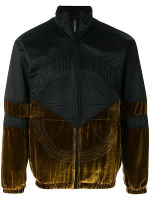 Куртка бархатной вставкой Astrid Andersen. Цвет: чёрный