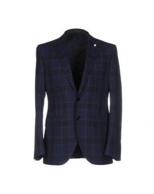 Пиджак LUIGI BIANCHI Mantova. Цвет: темно-синий