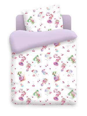 Комплект постельного белья в кроватку бязь Маленькие феечки Непоседа. Цвет: фиолетовый