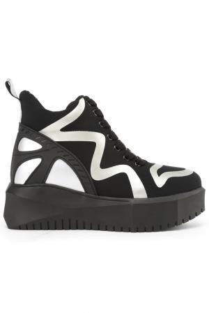 Ботинки NURIA. Цвет: черный, серебряный