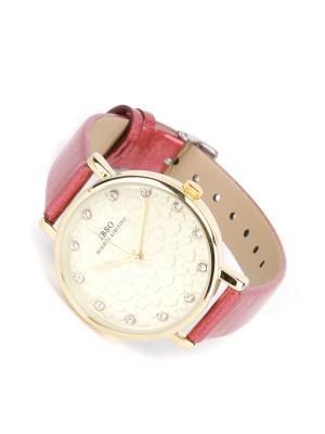 Часы на ремне IBSO. Цвет: бордовый, золотистый