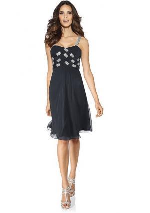 Вечернее платье Carry Allen. Цвет: темно-синий