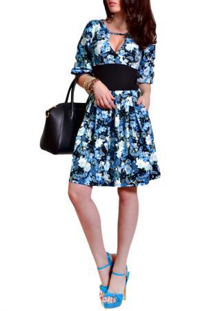 Платье FRANCESCA LUCINI. Цвет: нежно-голубой