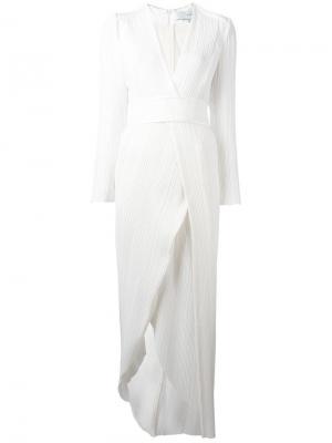 Pleated dress Galvan. Цвет: белый