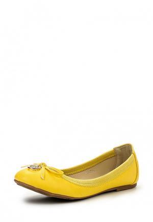 Балетки Tulipano. Цвет: желтый