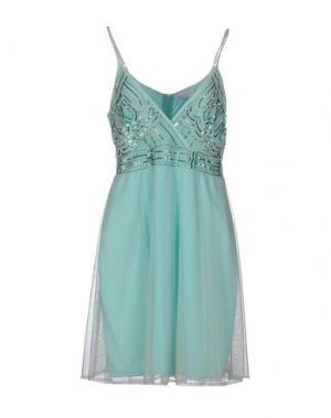 Короткое платье LA KORE. Цвет: небесно-голубой
