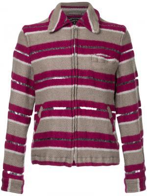 Пиджак с сетчатой панелью Comme Des Garçons Vintage. Цвет: розовый и фиолетовый