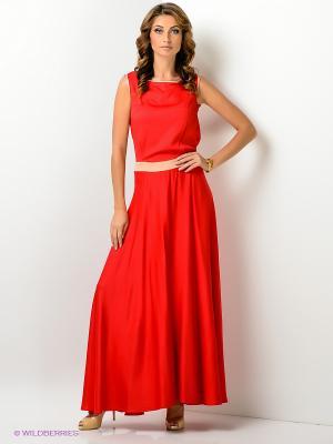 Платье Xarizmas. Цвет: красный, светло-бежевый