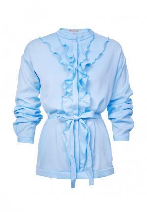 Блуза LO. Цвет: голубой