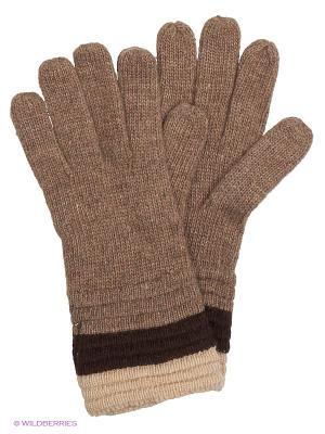 Перчатки INCITY. Цвет: бежевый, коричневый