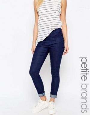 Waven Petite Укороченные джинсы скинни Freya. Цвет: синий