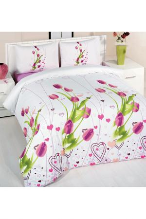 Cover set Majoli Bahar Home Collection. Цвет: white with flower print