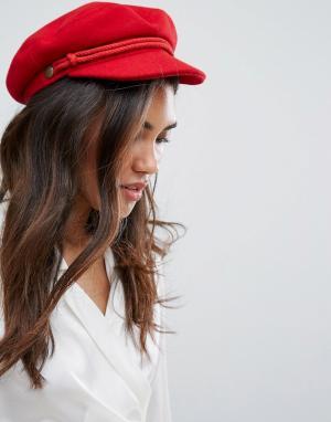 Brixton Красная кепка. Цвет: красный