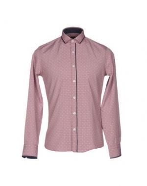 Pубашка SSEINSE. Цвет: красно-коричневый