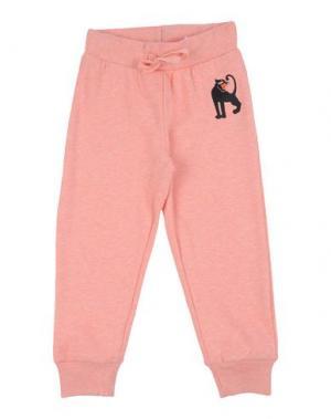 Повседневные брюки MINI RODINI. Цвет: розовый