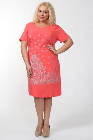 Платье Qneel. Цвет: коралловый