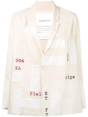 Пиджак с графическим принтом Toogood. Цвет: телесный